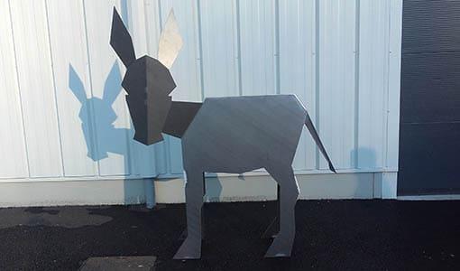 décoration de jardin - âne